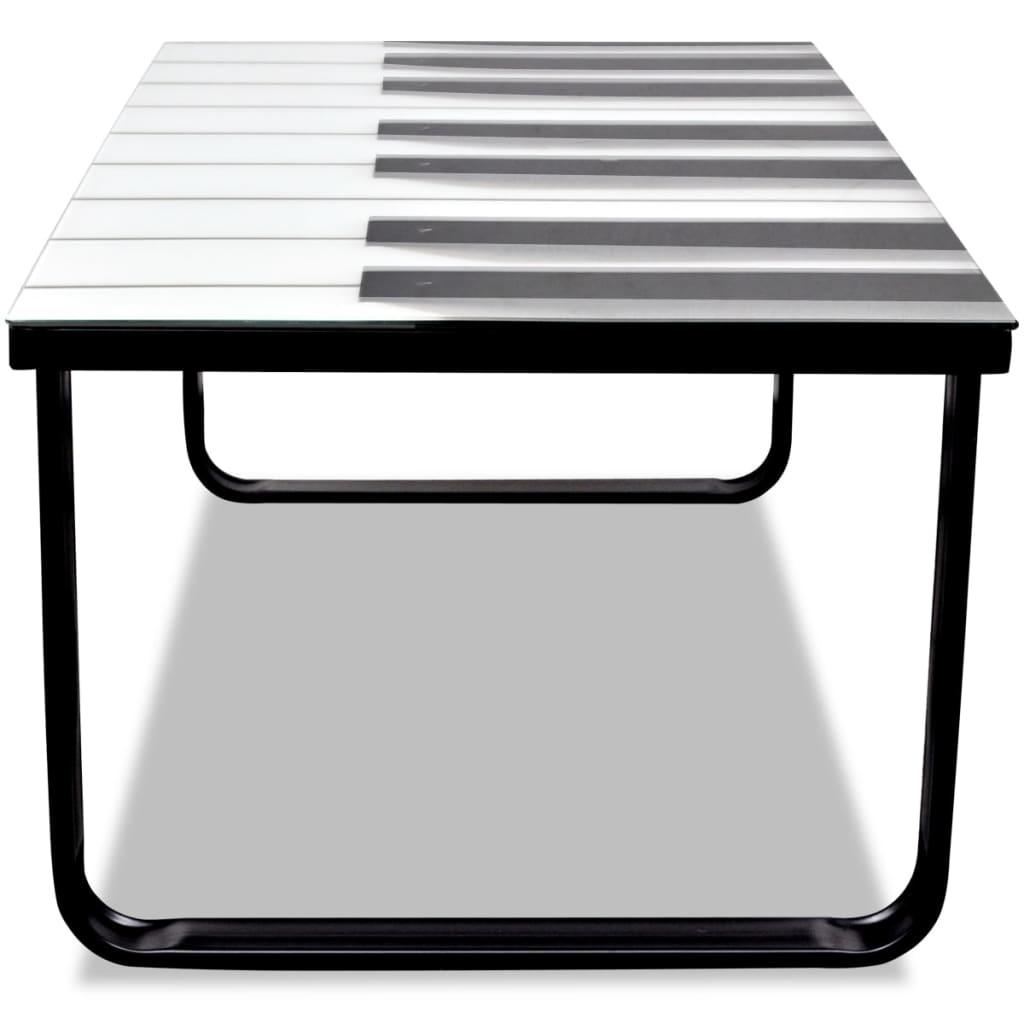 Der wohnzimmertisch mit klavier print glasplatte online for Wohnzimmertisch glasplatte