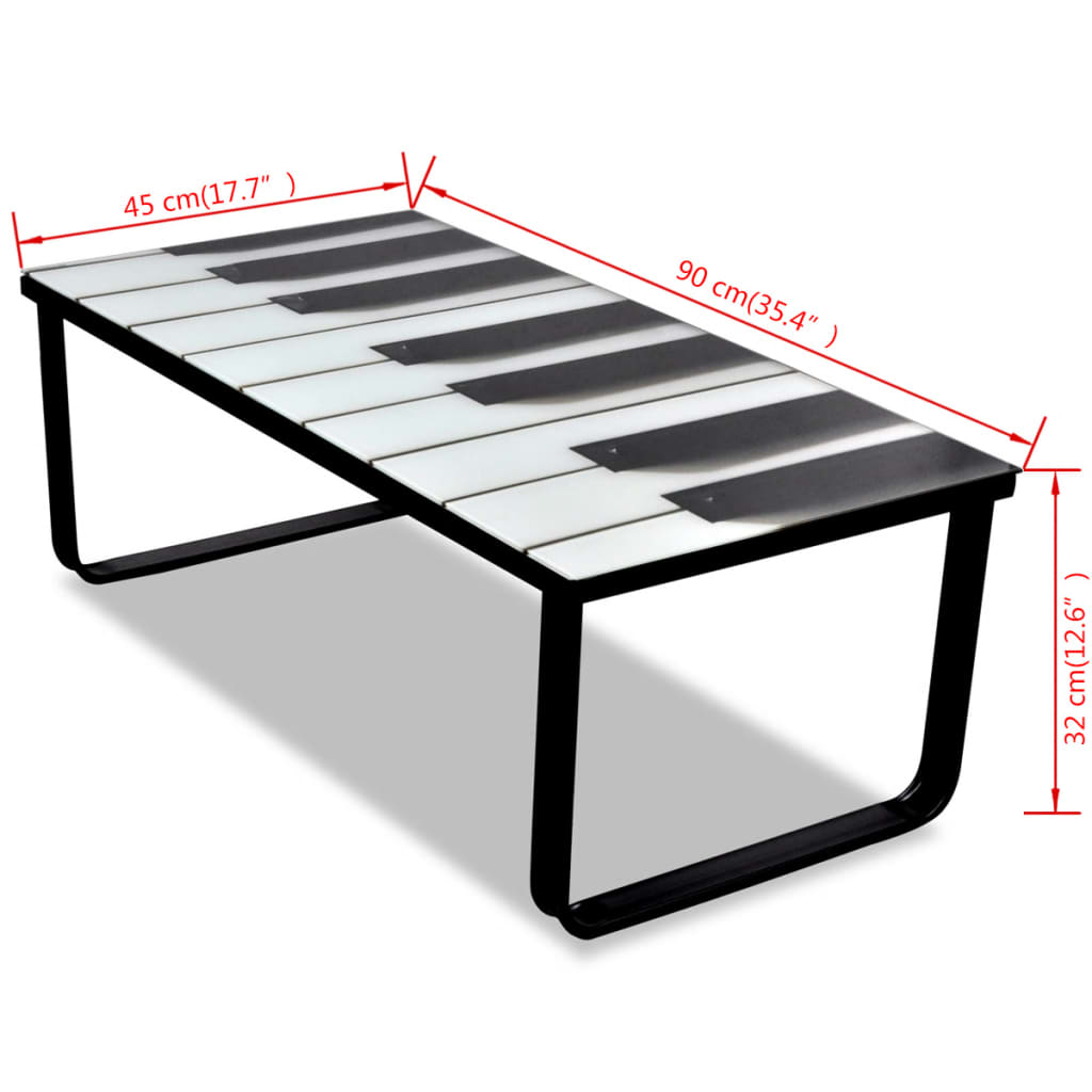 Acheter table basse en verre design piano pas cher - Table basse en verre but ...
