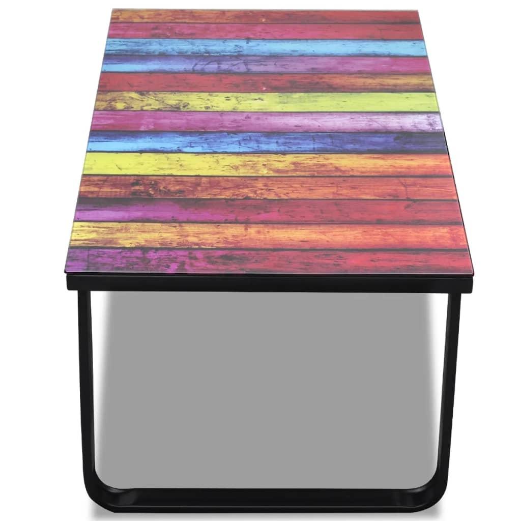 der wohnzimmertisch mit farbmix print glasplatte online. Black Bedroom Furniture Sets. Home Design Ideas