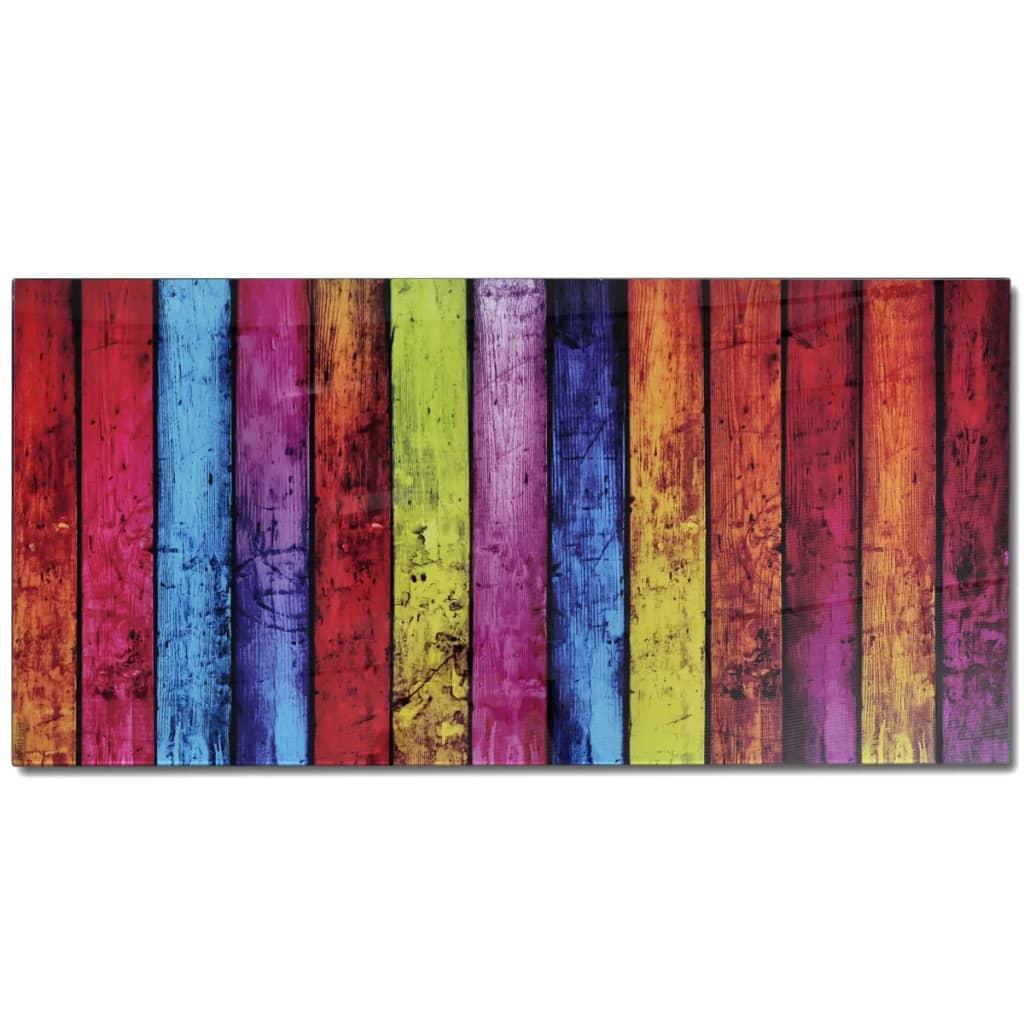 wohnzimmertisch mit farbmix print glasplatte. Black Bedroom Furniture Sets. Home Design Ideas