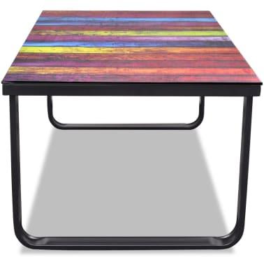 Glass Coffee Table with Rainbow Printing[3/7]