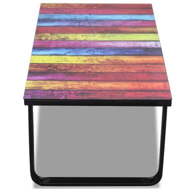 Glass Coffee Table with Rainbow Printing[4/7]