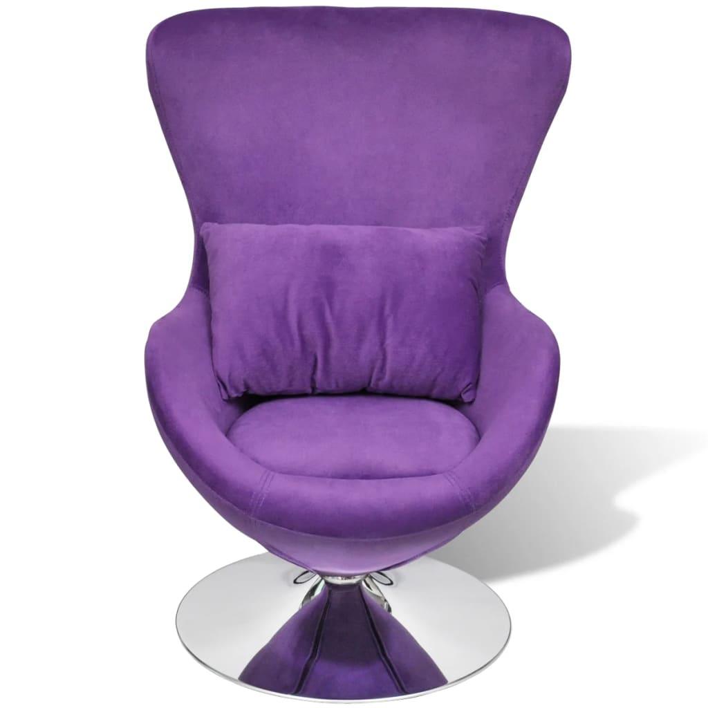 Articoli per piccola sedia viola ovale girevole con - Cuscino per sedia viola ...