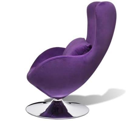 vidaxl fauteuil en forme d uf avec coussin petit. Black Bedroom Furniture Sets. Home Design Ideas
