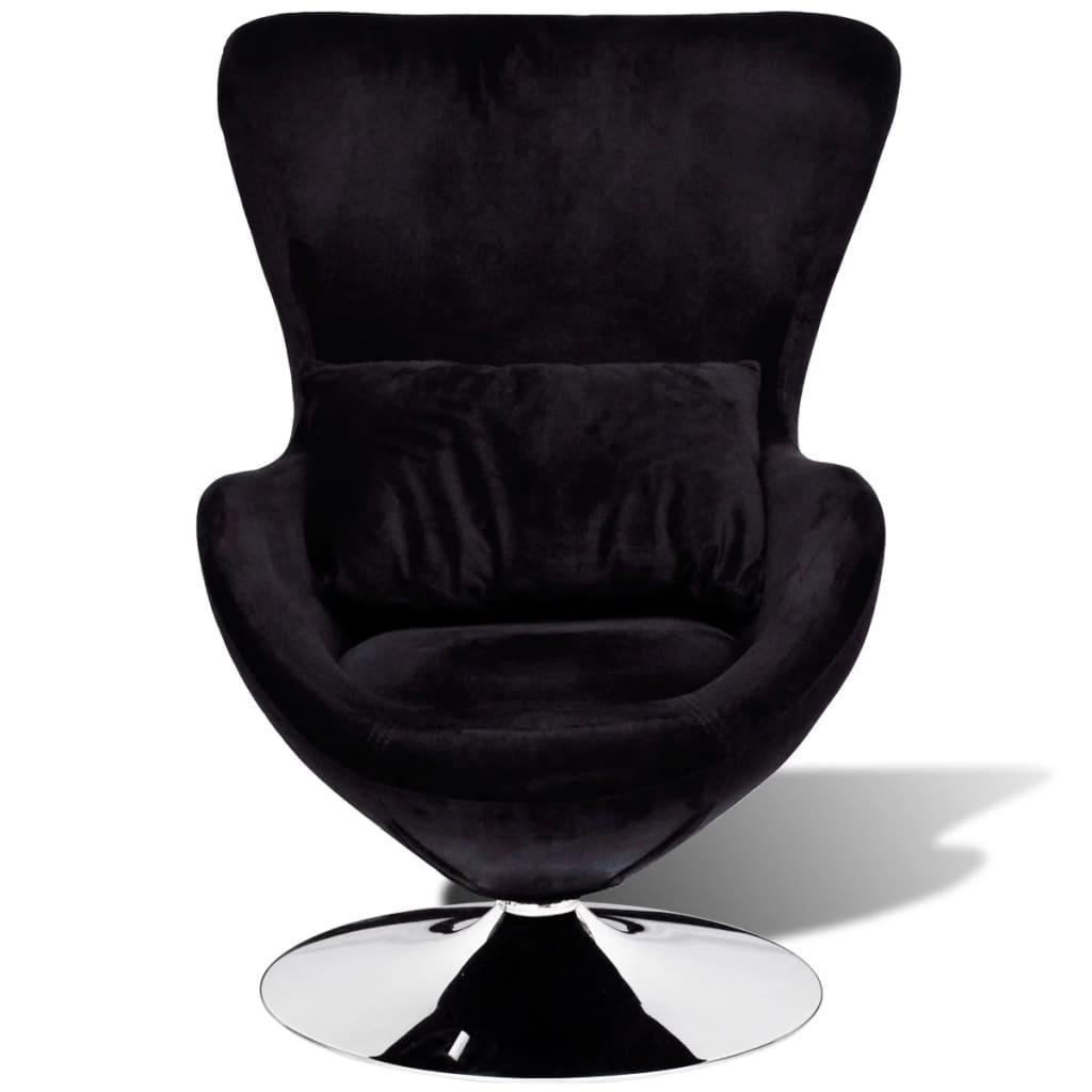 acheter chaise uf pivotante avec coussin noir pas cher. Black Bedroom Furniture Sets. Home Design Ideas