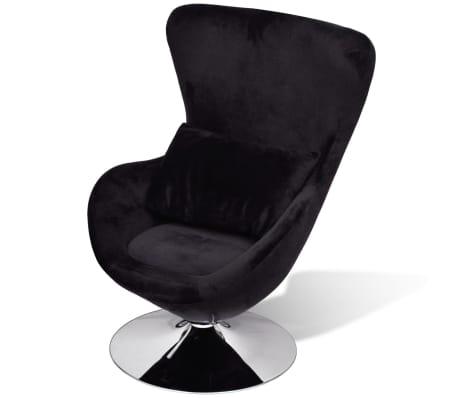 vidaxl fauteuil en forme d uf noir. Black Bedroom Furniture Sets. Home Design Ideas
