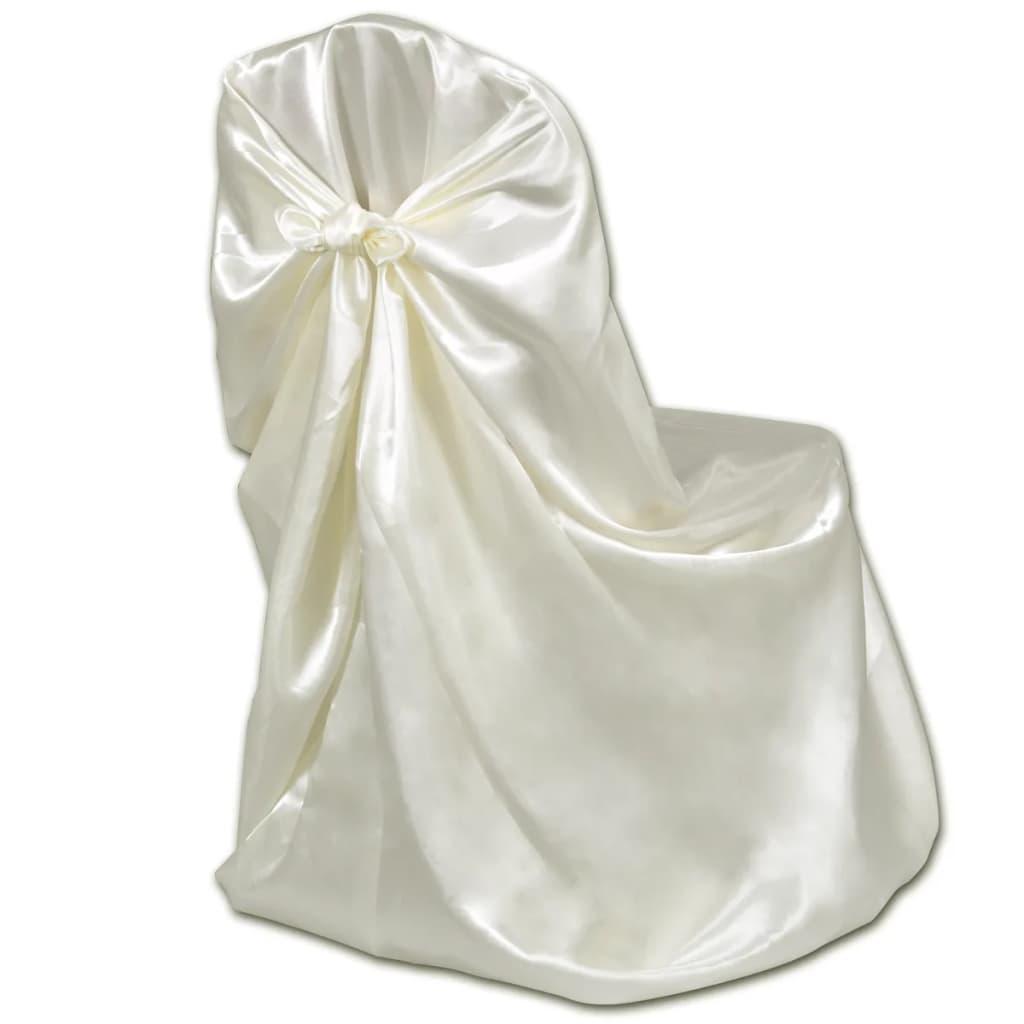acheter housse de chaise cr me pour le banquet de mariage 6 pi ces pas cher. Black Bedroom Furniture Sets. Home Design Ideas