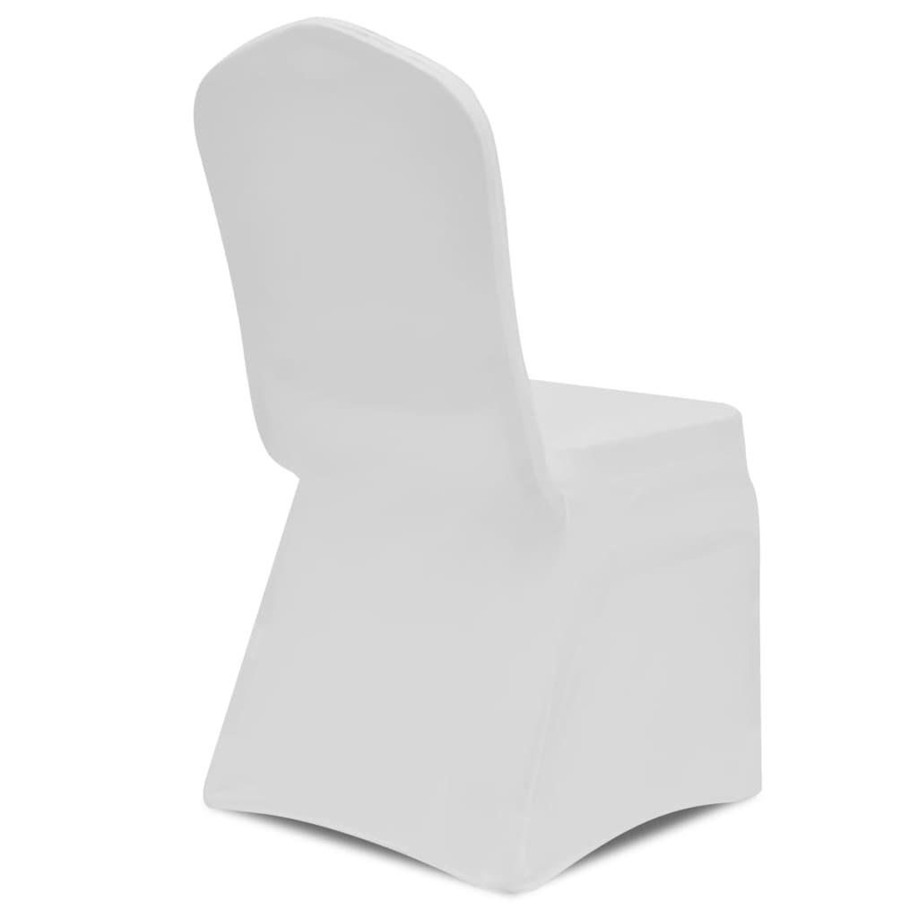 La boutique en ligne housse blanche extensible pour chaise 6 pi ces - Housse extensible pour chaise ...