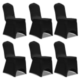 Chair Cover Stretch Black 6 pcs