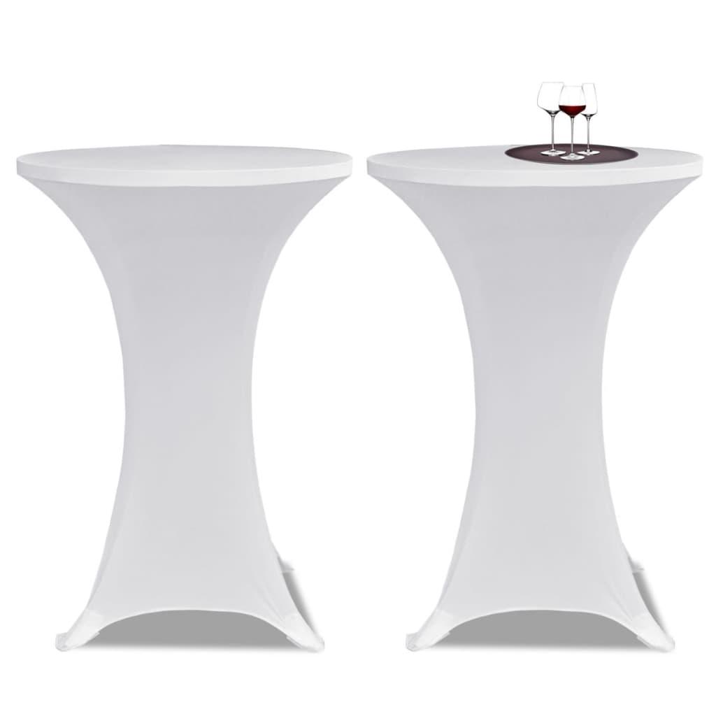 vidaXL Állandó Asztali Burkolat Ř60 Fehér Nyujtható 2 db
