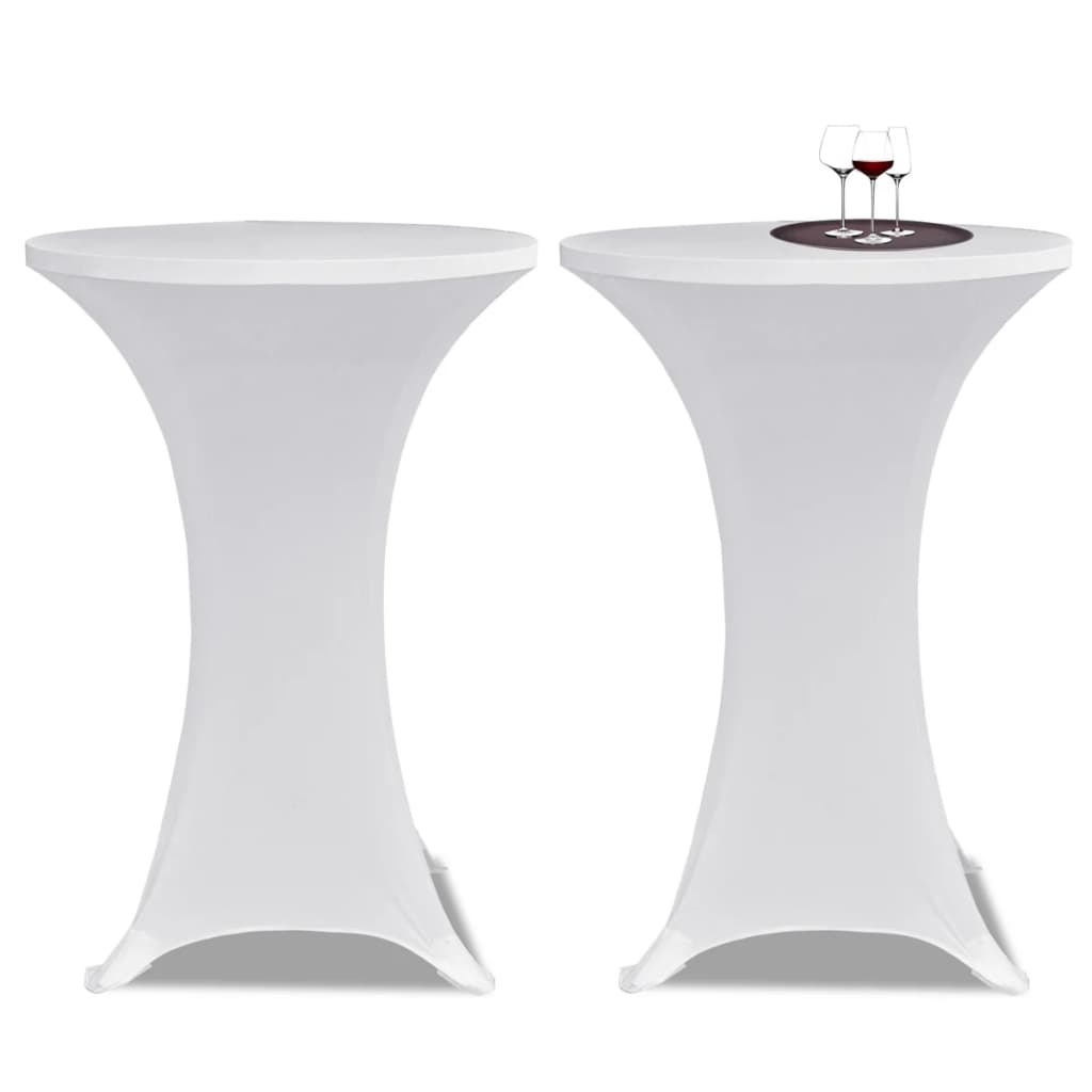 vidaXL Állandó Asztali Burkolat Ř80 Fehér Nyujtható 2 db