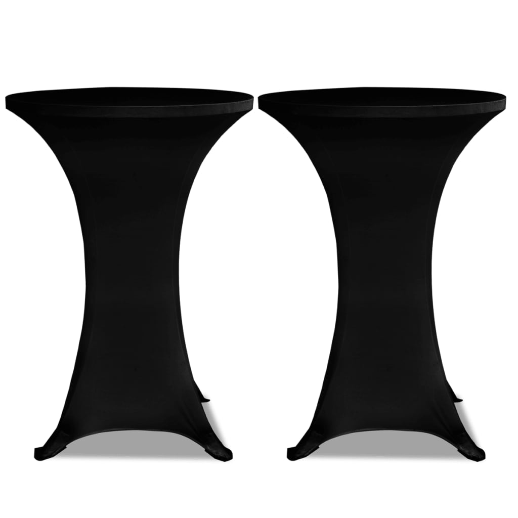 vidaXL-Housse-de-table-70cm-Noir-extensible-2-pcs