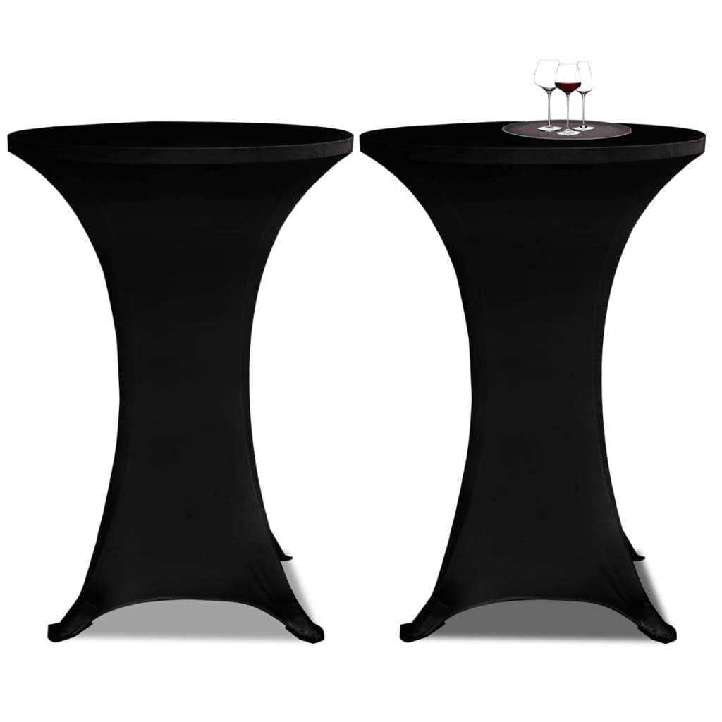 vidaXL Állandó Asztali Burkolat Ř70 Fekete Nyujtható 2 db