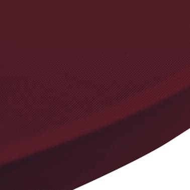Housse de table 80cm bordeaux extensible 2 pcs for Table extensible 80 cm de large