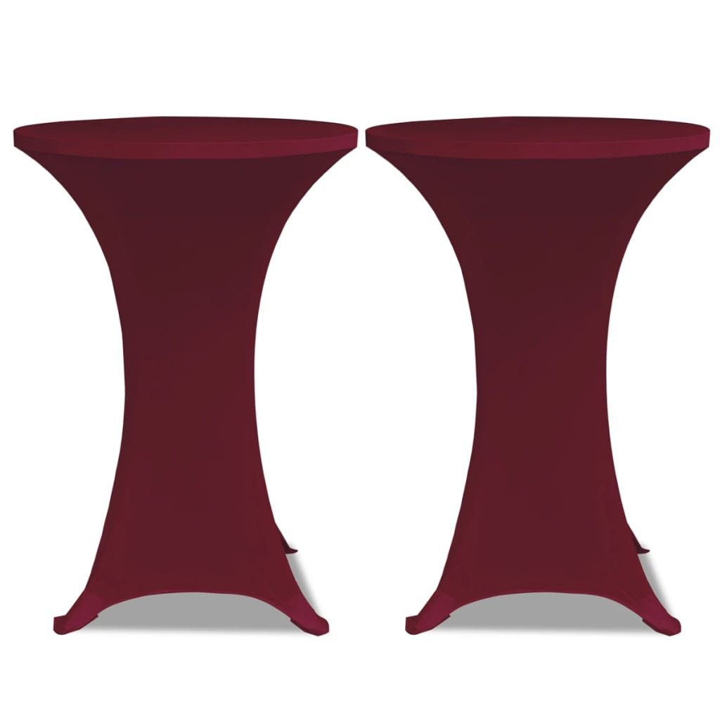 La boutique en ligne housse de table 80cm bordeaux for Table extensible 80 cm de large