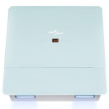 Napa od nehrđajućeg čelika sa zaslonom od kaljenog stakla,bijela 600mm[5/12]