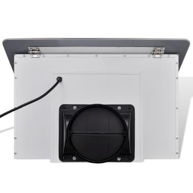 Napa od nehrđajućeg čelika sa zaslonom od kaljenog stakla,bijela 600mm[8/12]
