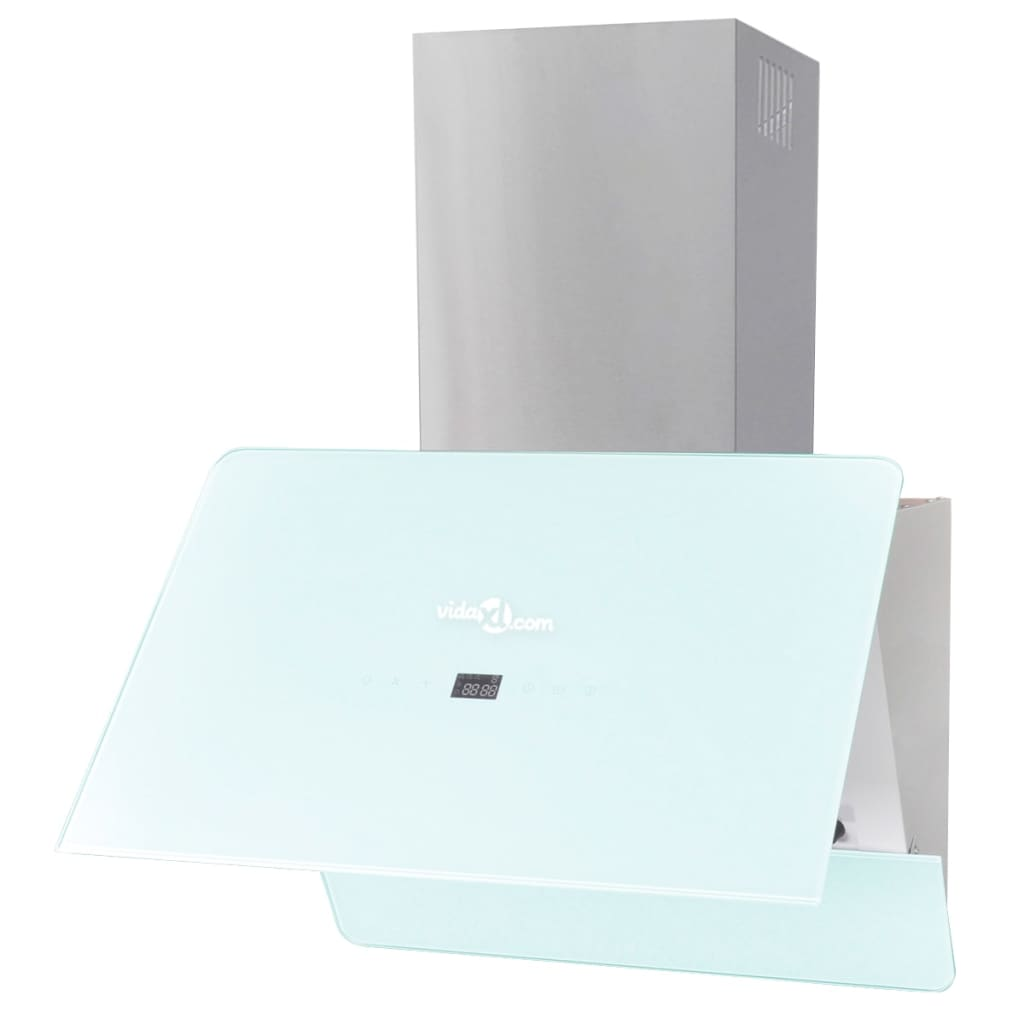 acheter hotte murale inclin e en verre tremp avec cran 600 mm pas cher. Black Bedroom Furniture Sets. Home Design Ideas
