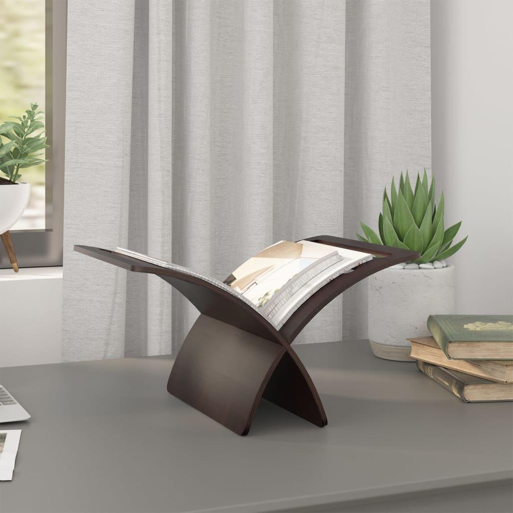 zeitungsst nder magazinhalter zeitschriftenst nder braun. Black Bedroom Furniture Sets. Home Design Ideas