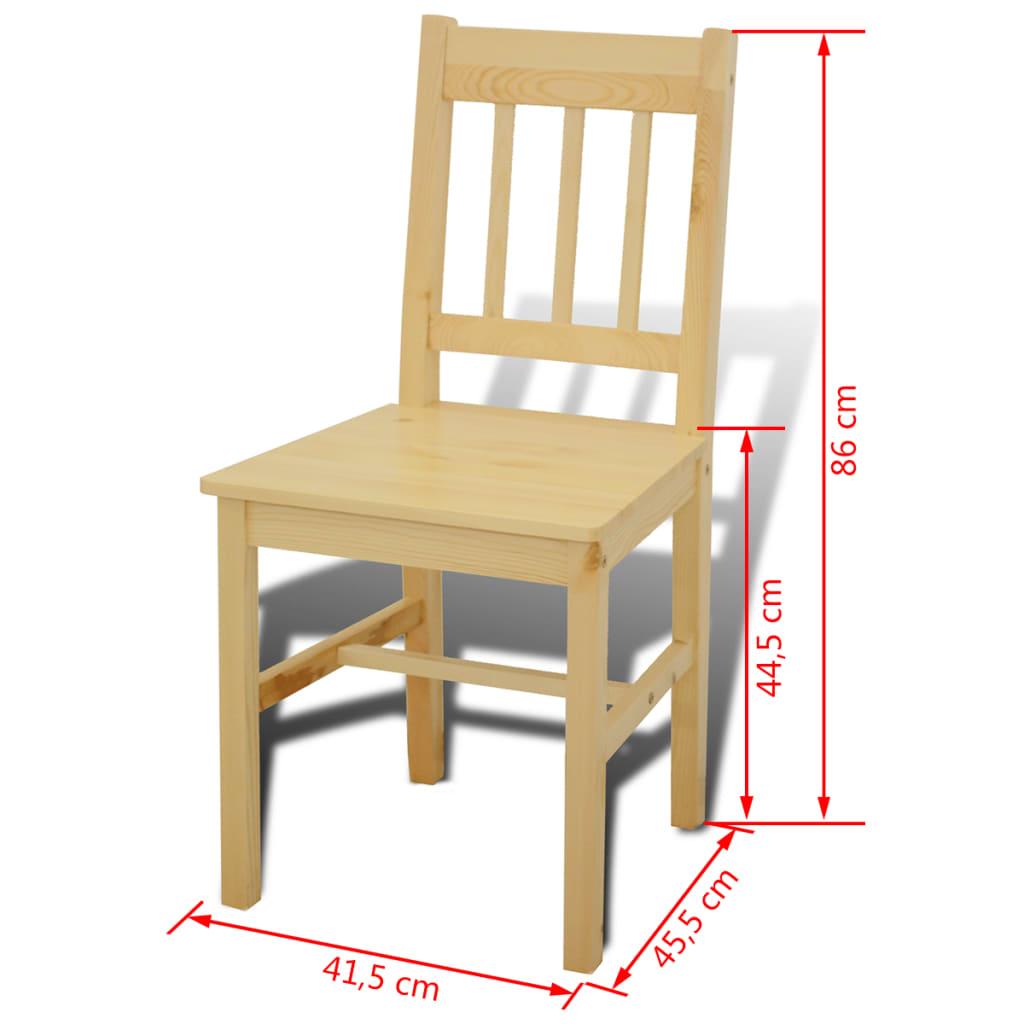 Acheter table manger avec 4 chaises en bois naturel pas for Table avec 6 chaises pas cher