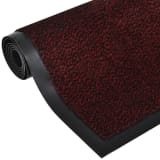 Tapis rectangulaire antidérapant 180 x 120 cm Rouge