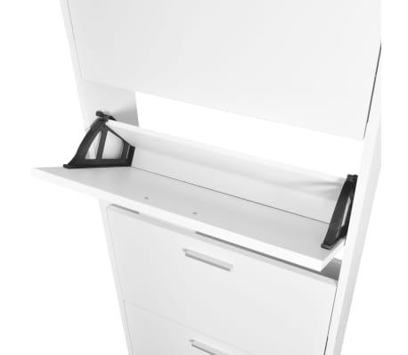 schuhschrank mit 5 schuhkipper holz wei im vidaxl. Black Bedroom Furniture Sets. Home Design Ideas