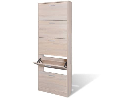 la boutique en ligne meuble chaussures en bois 5 abattants aspect ch ne. Black Bedroom Furniture Sets. Home Design Ideas