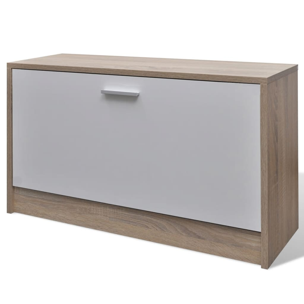 vidaXL nl 3 in 1 houten schoenenkast set (eiken wit)