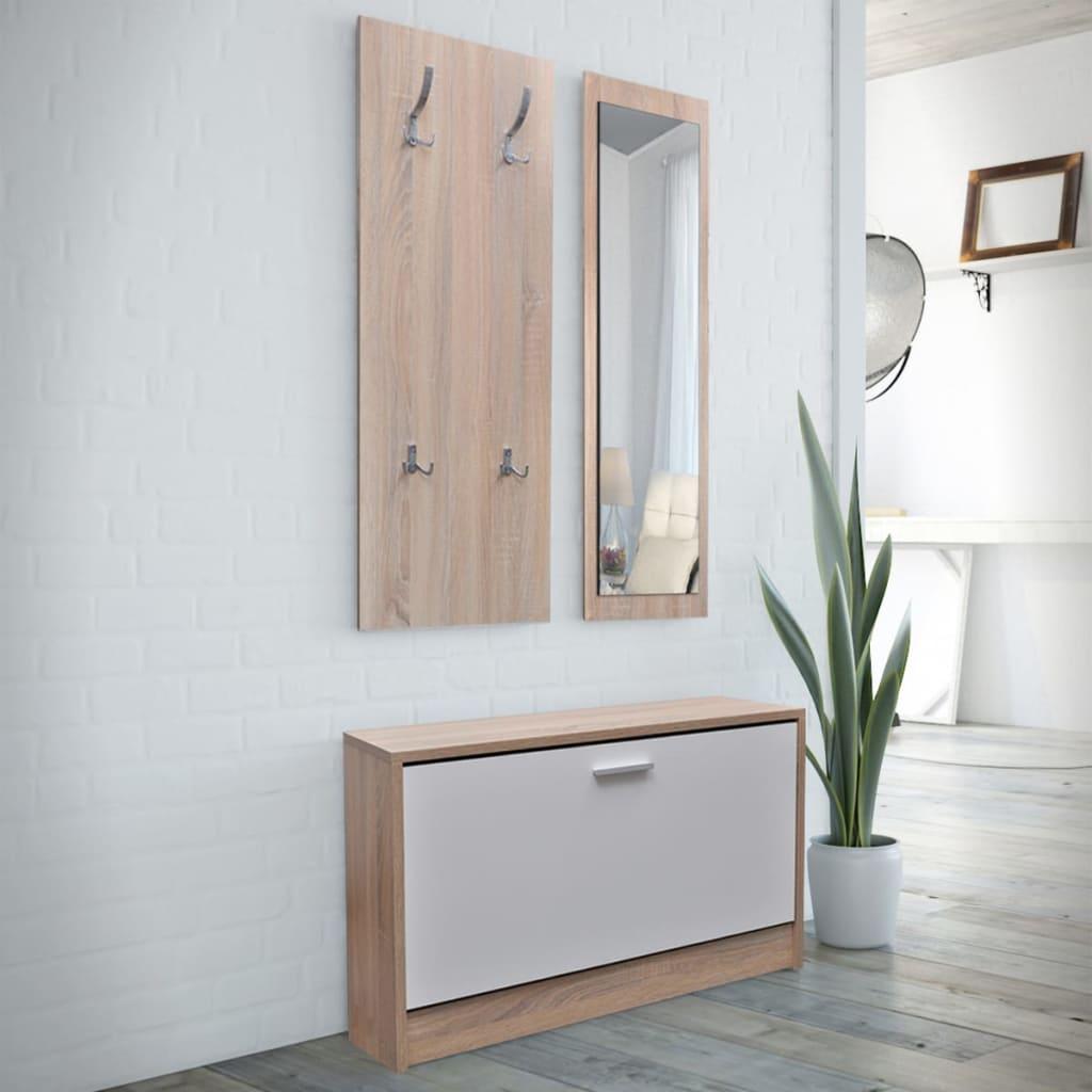 vidaXL-Scarpiera-Set-3-in-1-Aspetto-legno-naturale