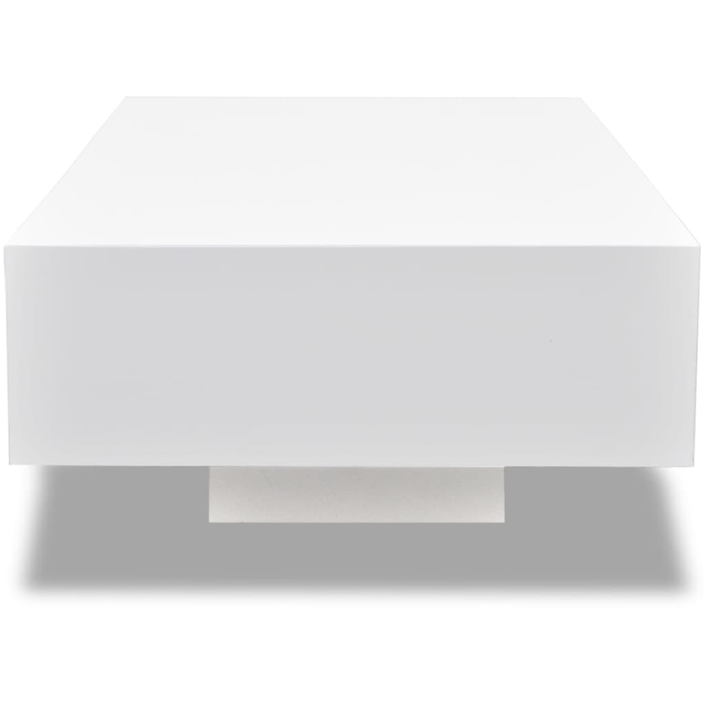 Vidaxl High Gloss Coffee Table White: White High Gloss Coffee Table 115 Cm