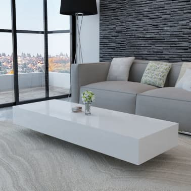 White High Gloss Coffee Table 115 Cm
