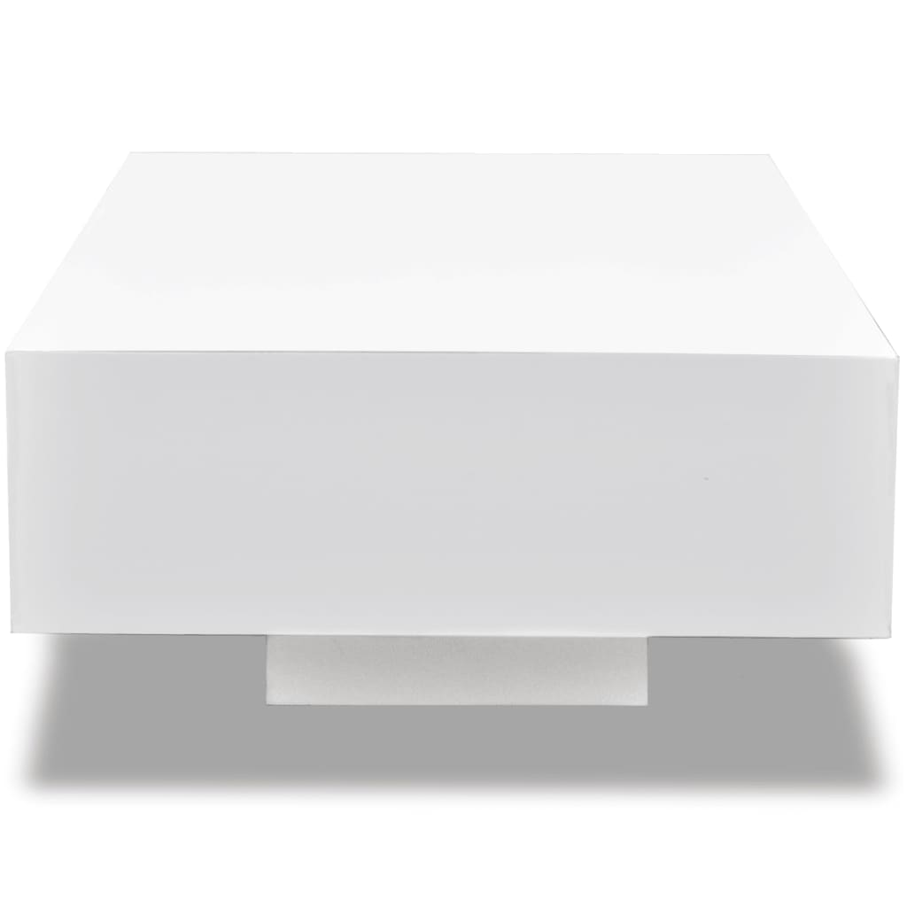White High Gloss Coffee Table 85 Cm