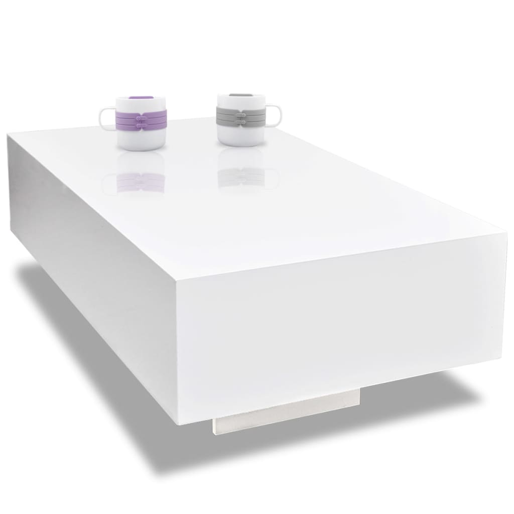 White High Gloss Coffee Table 85 Cm