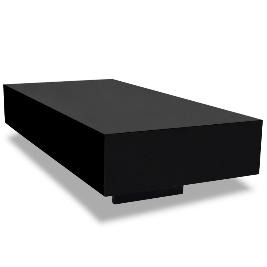 Black high gloss coffee table 115 cm - Table basse comptoir de famille ...