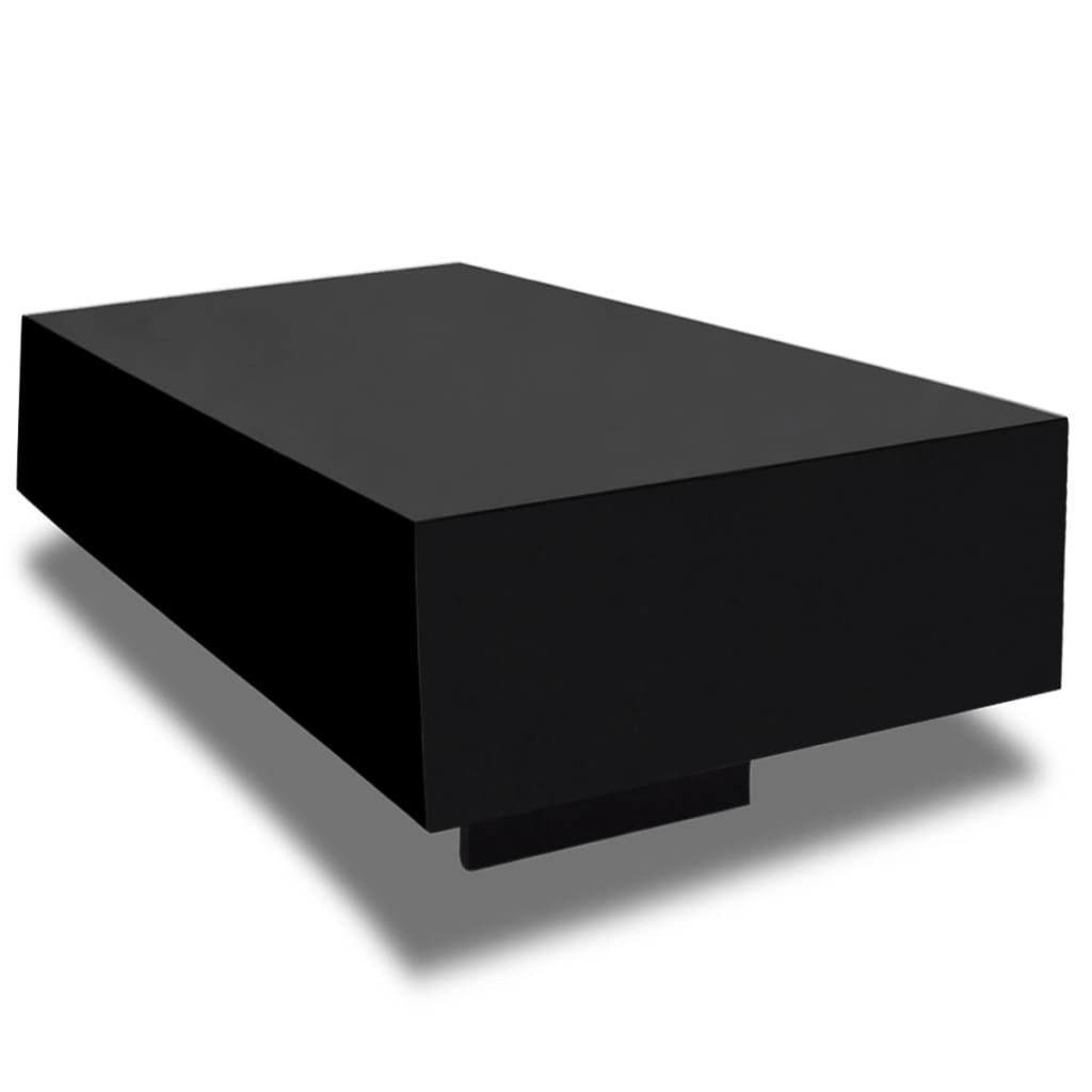 black high gloss coffee table 85 cm. Black Bedroom Furniture Sets. Home Design Ideas