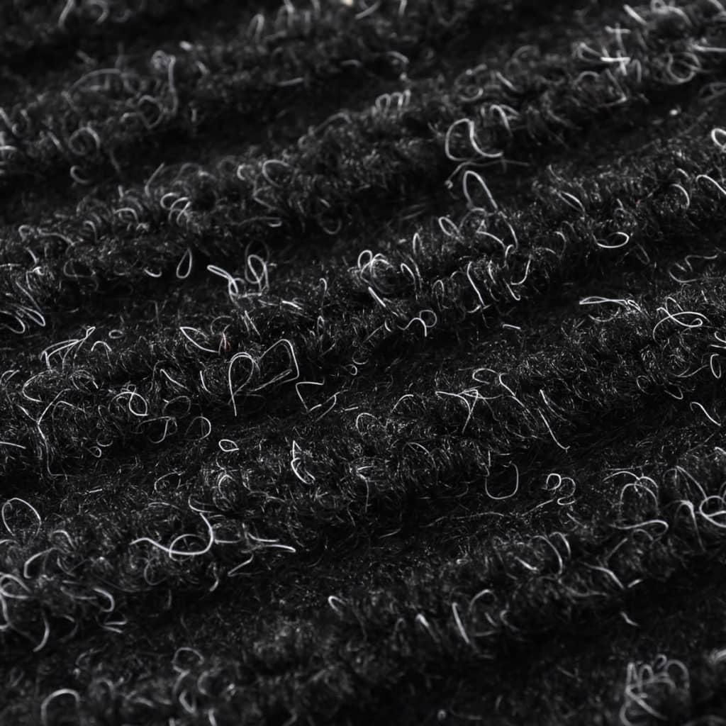 Alfombra de entrada de pvc negra 90 x 60 cm tienda online - Alfombras de pvc ...