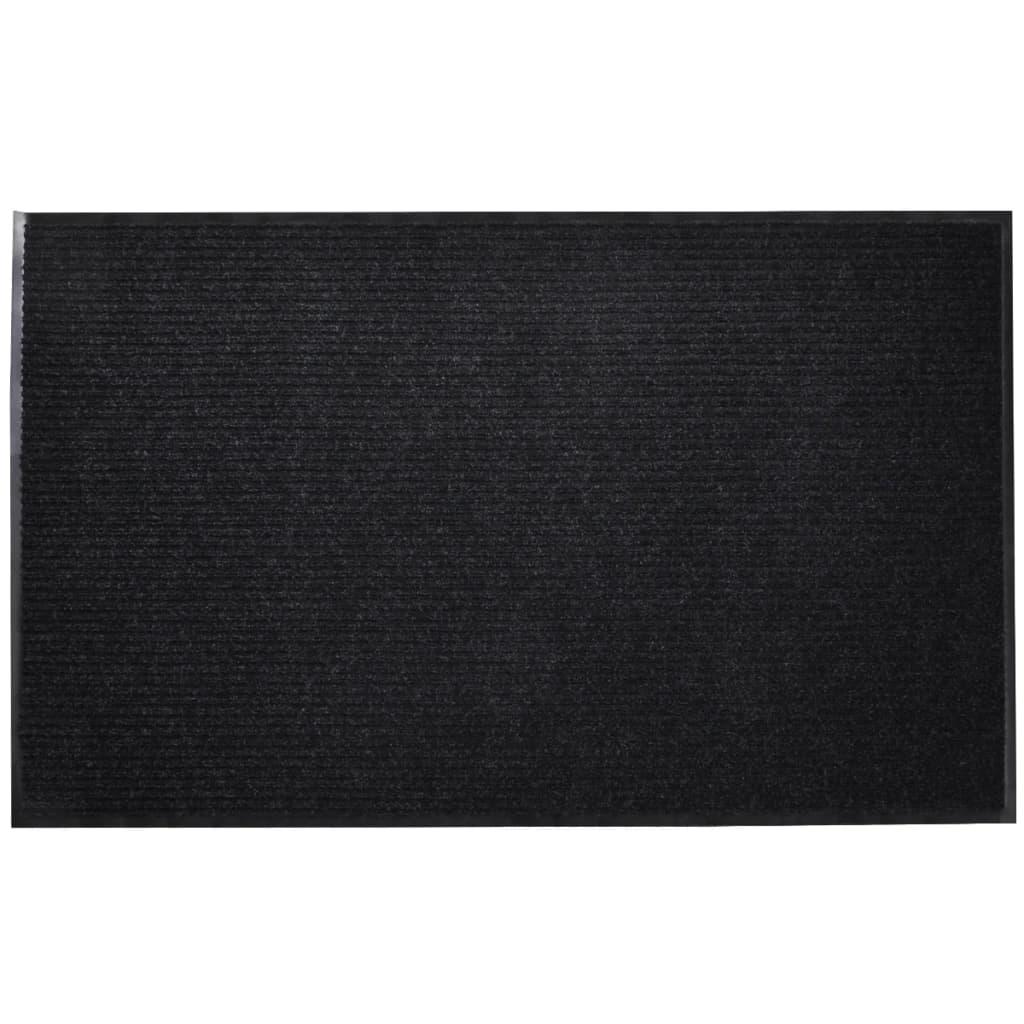 vidaXL Schwarze PVC Türmatte 90 x 60 cm