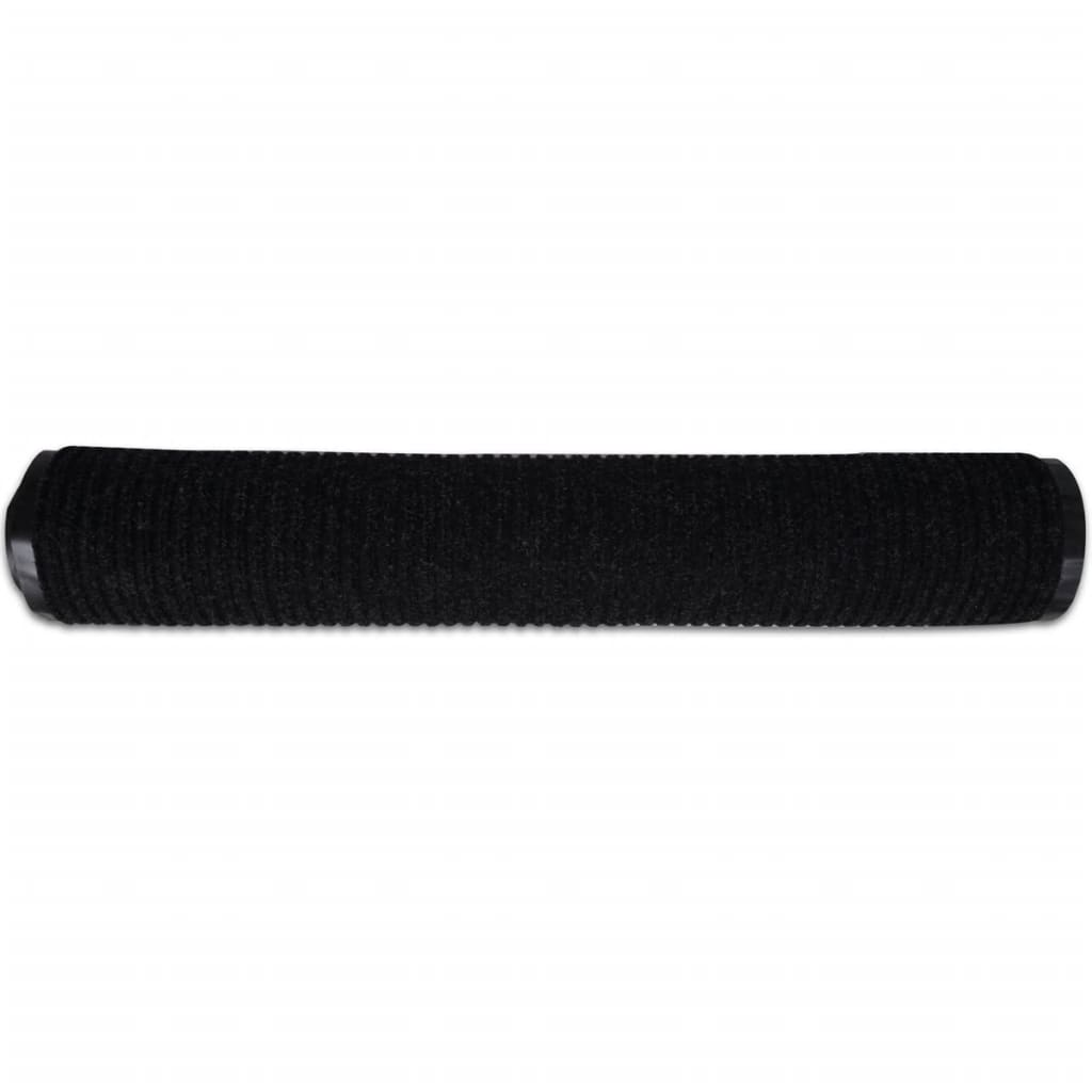 black pvc door mat 90 x 120 cm. Black Bedroom Furniture Sets. Home Design Ideas