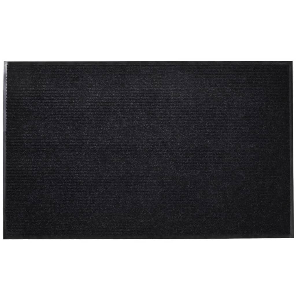acheter vidaxl tapis d 39 entr e noir pvc 90 x 120 cm pas cher. Black Bedroom Furniture Sets. Home Design Ideas