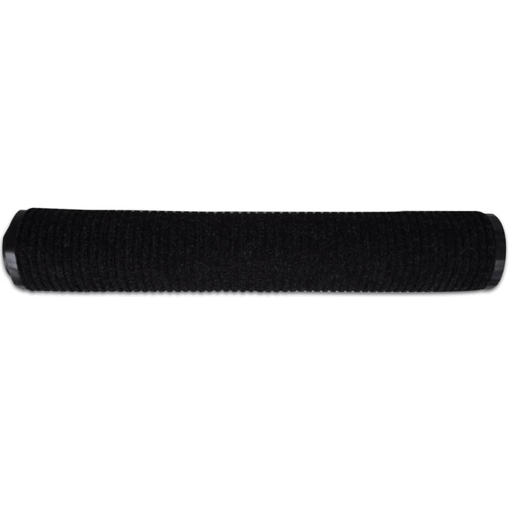 black pvc door mat 120 x 180 cm. Black Bedroom Furniture Sets. Home Design Ideas