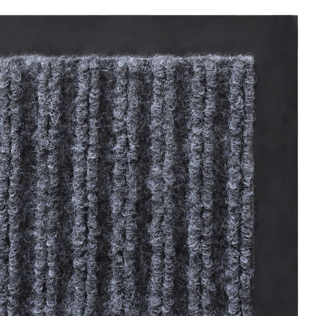 Alfombra de entrada de pvc gris 90 x 60 cm - Alfombras de pvc ...