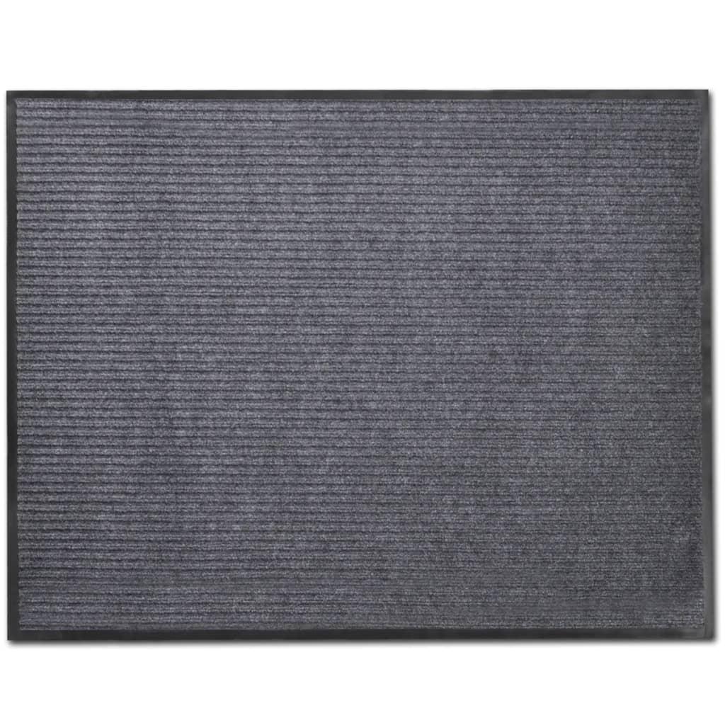 vidaXL Graue PVC Türmatte 90 x 60 cm