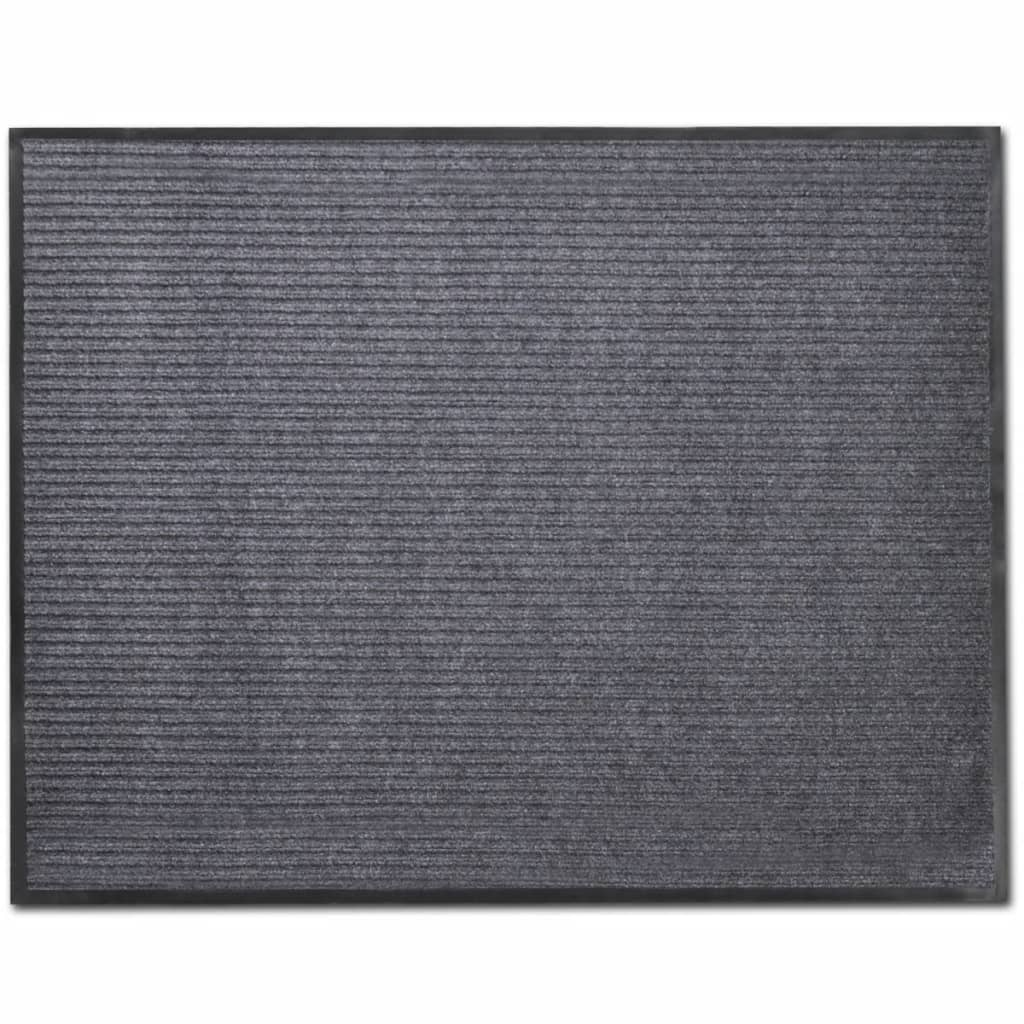 acheter tapis d 39 entr e en pvc gris 90 x 120 cm pas cher. Black Bedroom Furniture Sets. Home Design Ideas