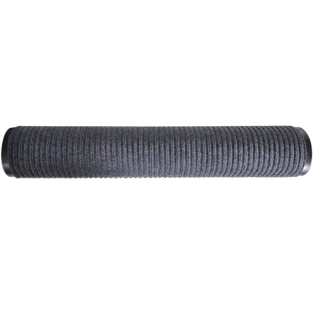 Alfombra de entrada de pvc gris 120 x 180 cm tienda for Alfombra 120 x 150