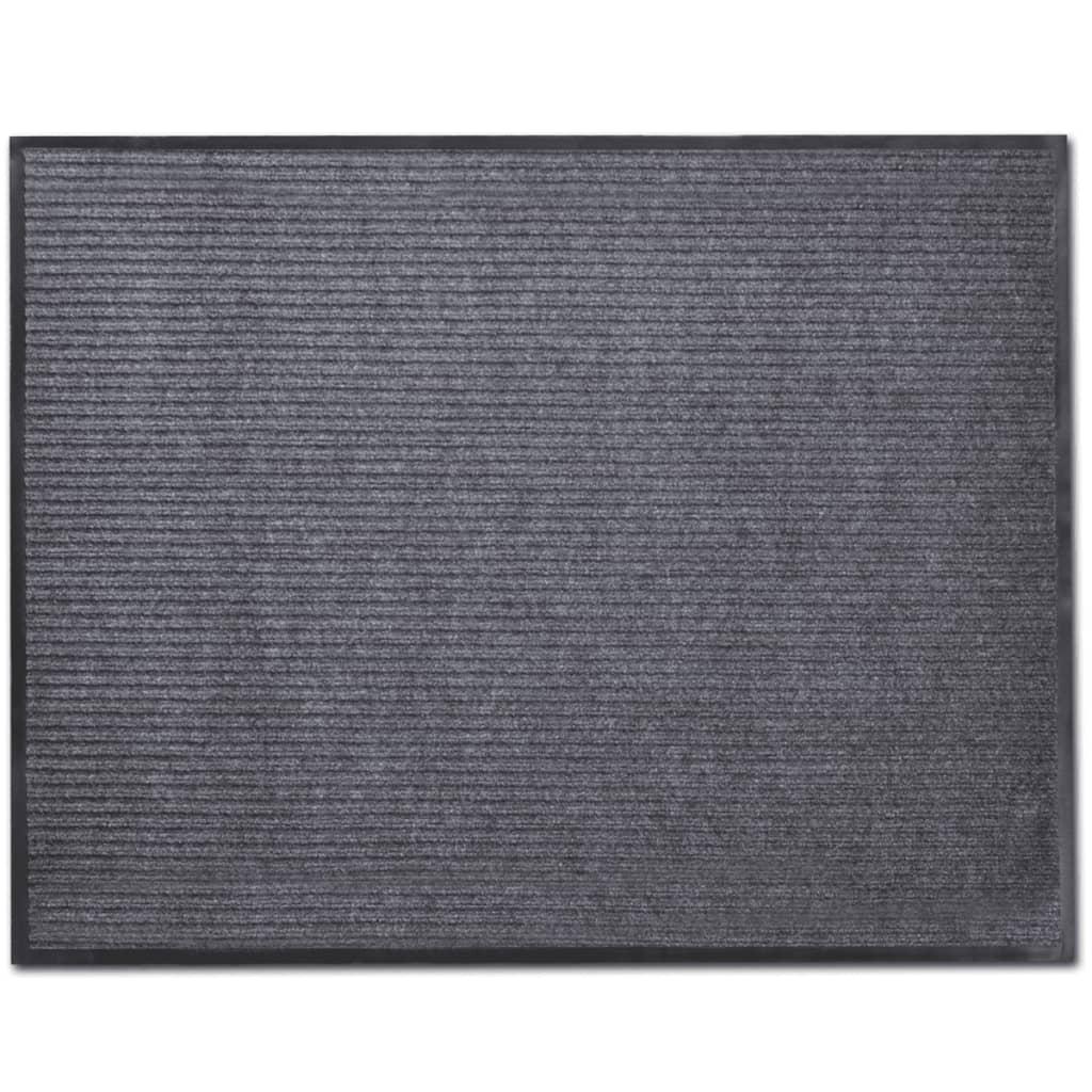 vidaXL Graue PVC Türmatte 120 x 180 cm