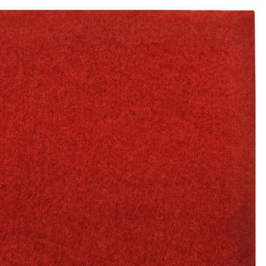 Červený koberec vidaXL - 1 x 10 m, extra ťažký 400 g/m2[6/6]