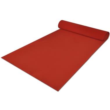 Červený koberec vidaXL - 1 x 10 m, extra ťažký 400 g/m2[3/6]