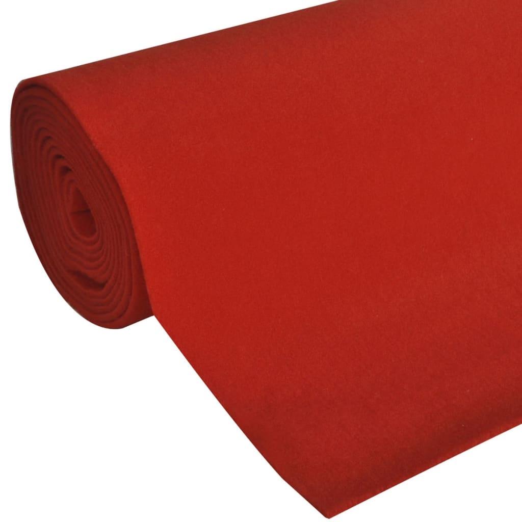 Rood tapijt 1 x 10 m