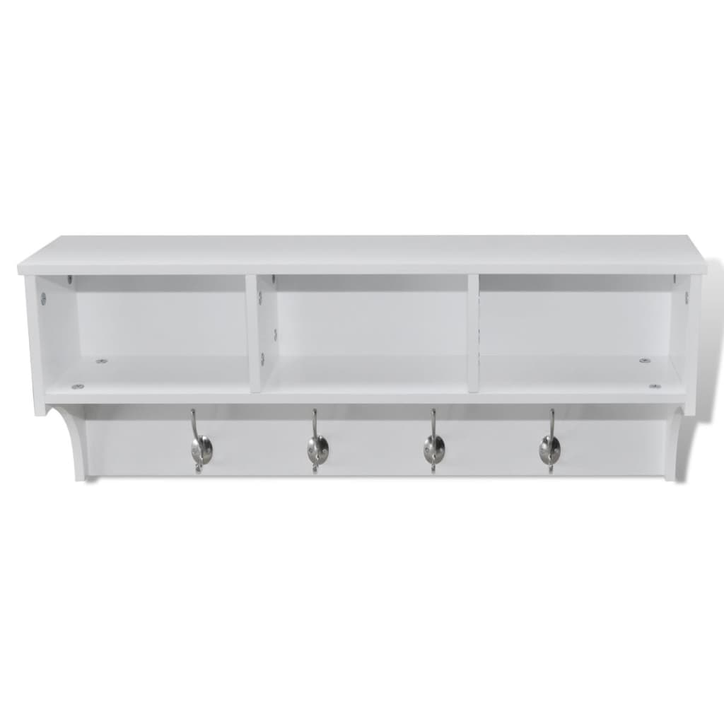 set de perchero de pared blanco y gabinete tienda online