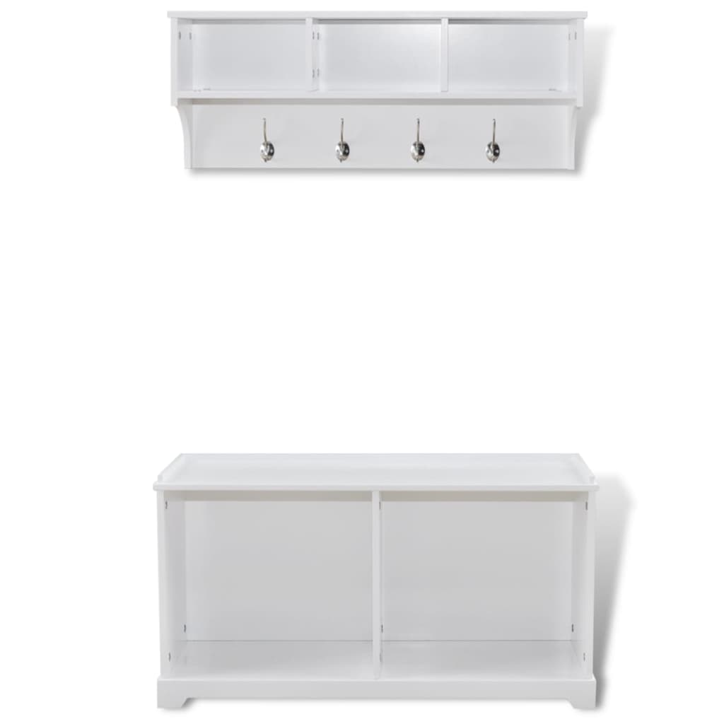 la boutique en ligne etag re d 39 entr e murale et cabinet blanc. Black Bedroom Furniture Sets. Home Design Ideas